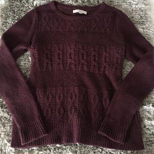Loft Sweater W/ Camel Hair&Wool